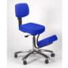 Ergonomic Seating Saddle Chair – Black/Chrome –  BP1465BK