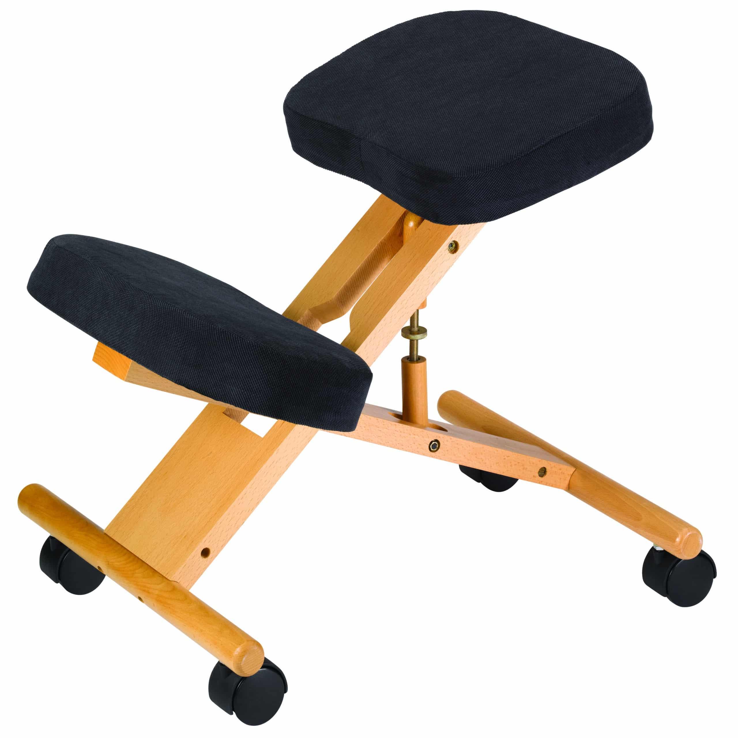 Classic Wooden Kneeling Chair Black Bp1550bk Jobri