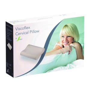 Memory Pillows ViscoFlex Cervical Pillow Large – White – BR1550LG