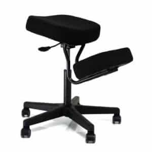 Kneeling Chairs Solace Plus Kneeling Chair with Visco Memory Foam – Black – BP1445