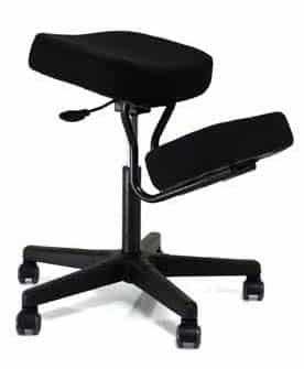 Kneeling Chairs Solace Plus Kneeling Chair with Visco Memory Foam – Black – BP1445