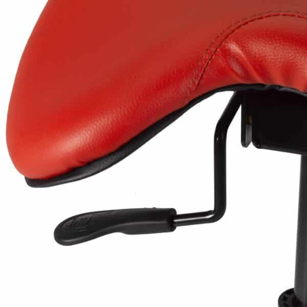 Back Care Saddle Chair – Red/Chrome BP1465RD