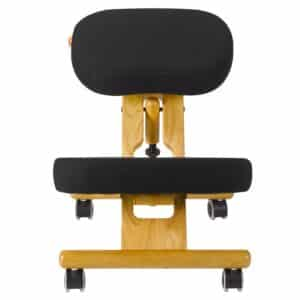 Back Care Classic Wooden Kneeling Chair – Black – BP1650BLK