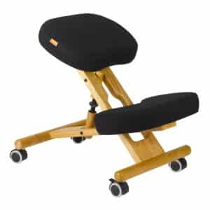 Back Care Classic Wooden Kneeling Chair with Visco Foam – Black – BP1655BLK