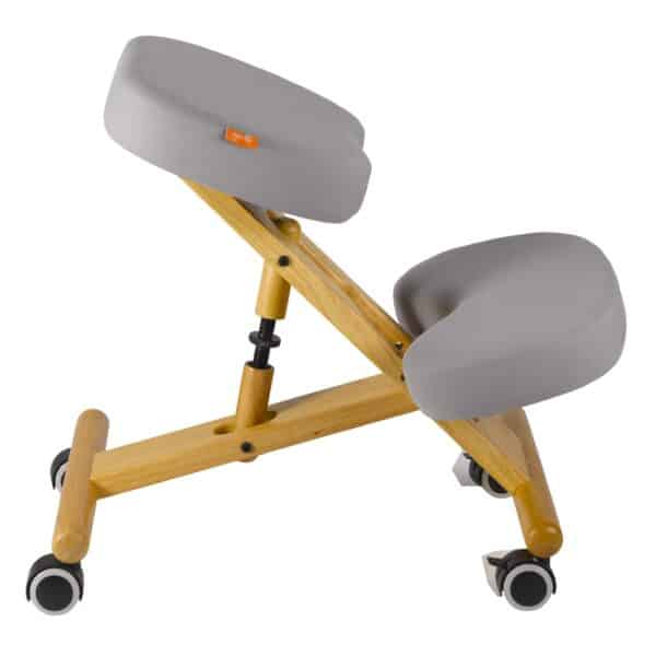 Back Care Classic Wooden Kneeling Chair – Light Grey – BP1650LGR